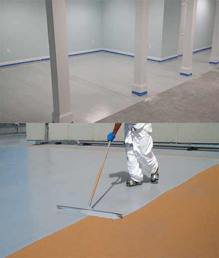 concrete epoxy floor painting and resin coatings